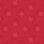 Lewis & Irene North Pole - 5498 - Compass & Stars on Red - C12.3 - Cotton Fabric
